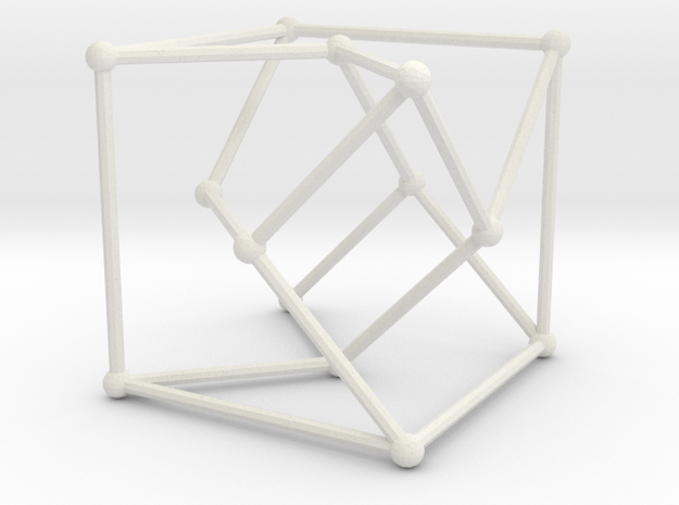 Heawood graph in White Natural Versatile Plastic: Large