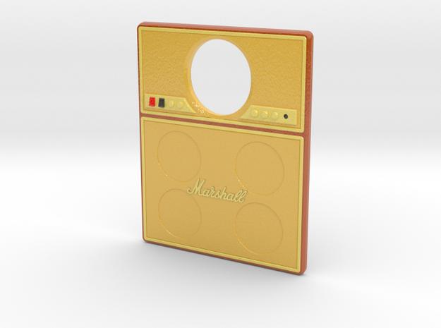 Pinball Plunger Plate - Quad Speaker Amp v2 in Glossy Full Color Sandstone