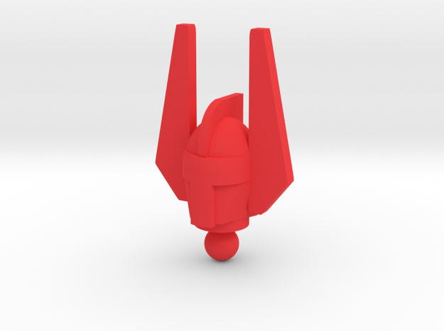 Time Traveler New Voyages Acroyear Head in Red Processed Versatile Plastic