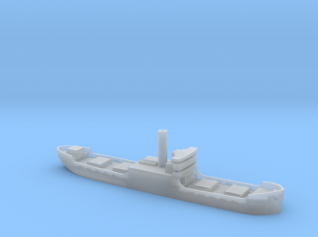 Three island cargo ship 1/1800 in Smooth Fine Detail Plastic