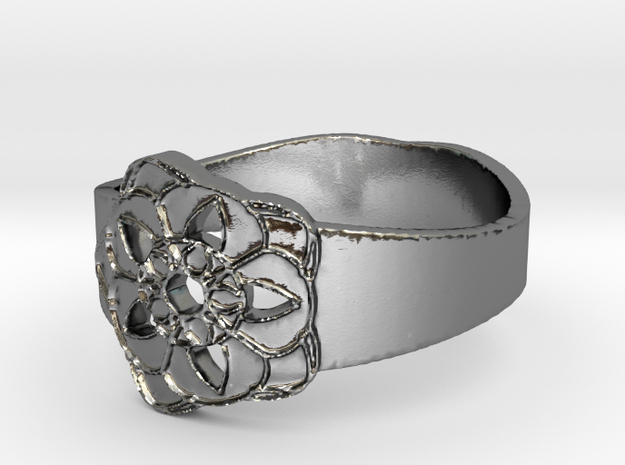 Gil & Tuxu's Ring Design Ring Size 7 in Polished Silver