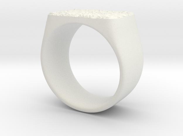 Joker's Rectangle Ring - Plastics in White Natural Versatile Plastic: 3 / 44