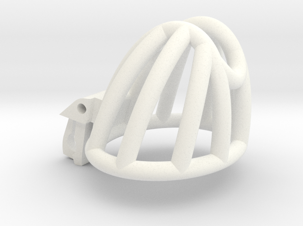 Cherry Keeper Cage - Small Wide in White Processed Versatile Plastic