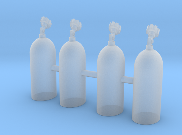 1/64 Scale NOS Bottles with no stands in Smoothest Fine Detail Plastic