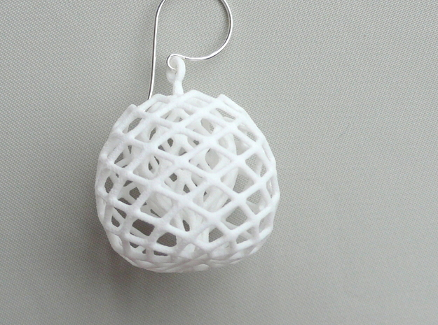 buds earrings in White Natural Versatile Plastic