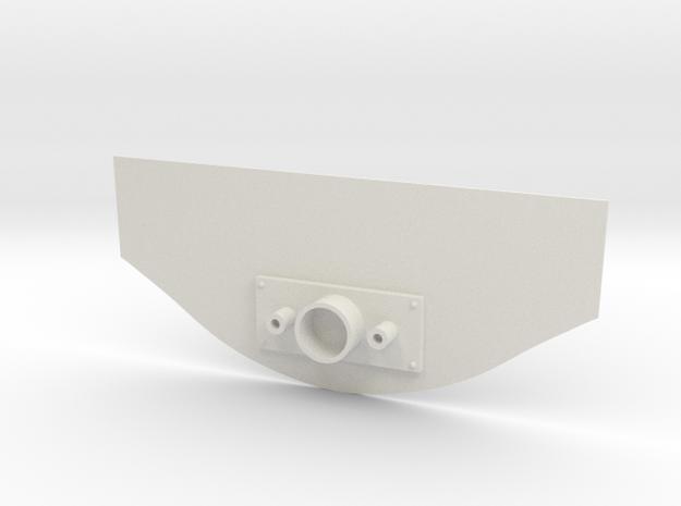 Captain Action Silver Streak Rear Plate to repair  in White Natural Versatile Plastic