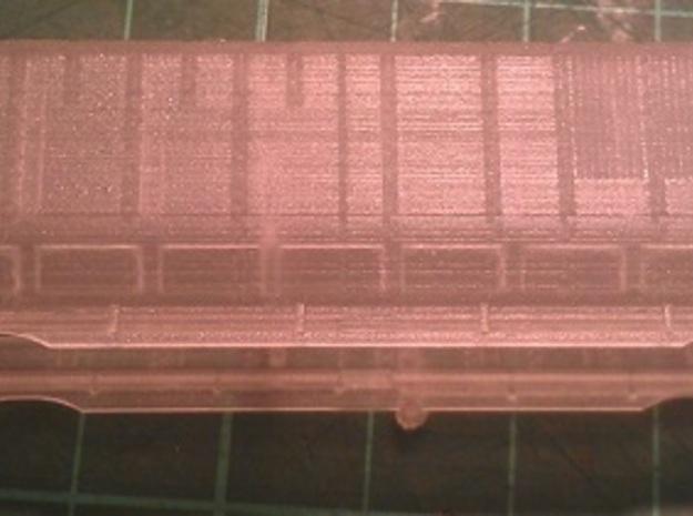 UP Water Tender N Scale 1:160 Jim Adams  3d printed Side View - Before Cleaning