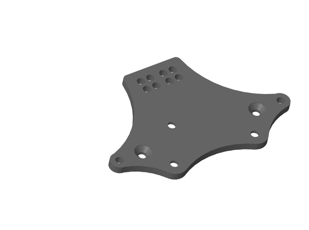 Axial 4 Link Plate Front Rear Servo Mount in White Natural Versatile Plastic