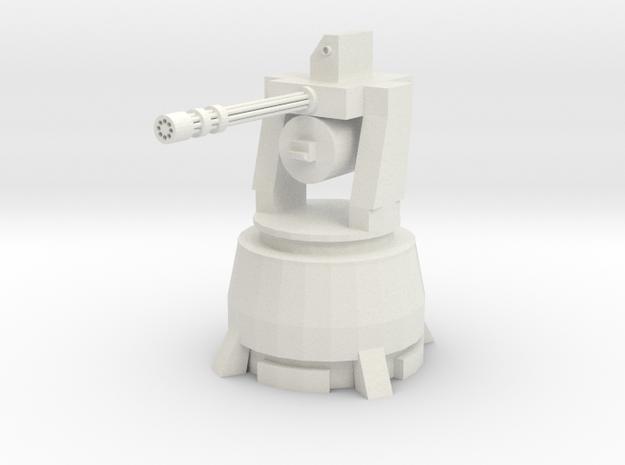 Long Range Air Defence Gun  in White Natural Versatile Plastic