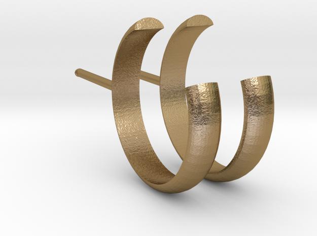 Open Stud Earrings 15mm Spess1,5mm_V DESIGN LAB in Polished Gold Steel
