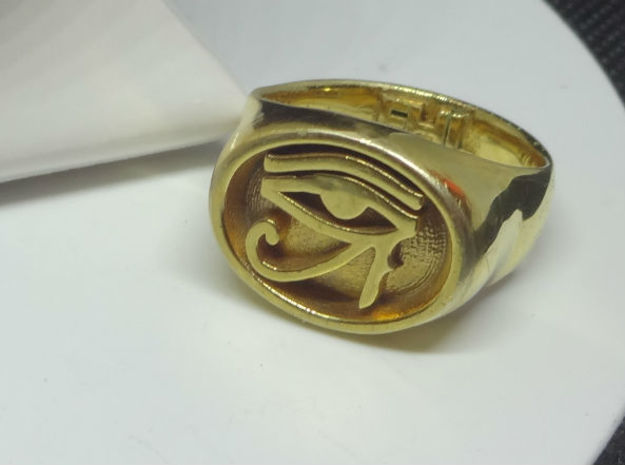Eye of Dawn Men's Ring - Custom Signature Jewelry  in 18k Gold Plated Brass
