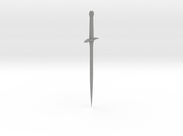 Frodo Sword Sting in Gray PA12