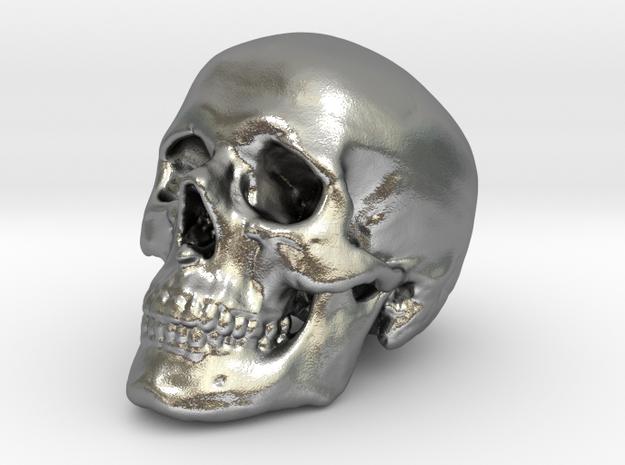 Skull Scientific 44 mm in Natural Silver