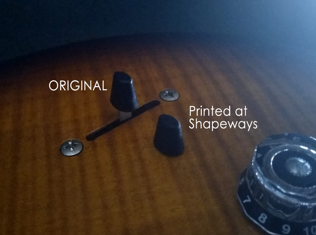 PRS style switch tip for all guitars in Black Natural Versatile Plastic