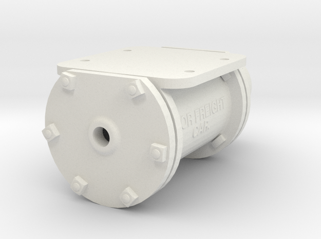3.75 Scale KD 6x8 Cylinder  in White Natural Versatile Plastic