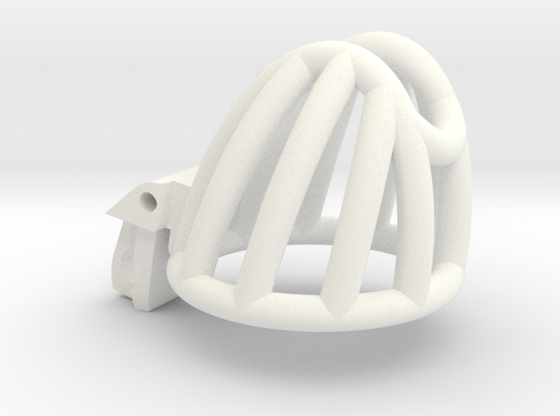 Cherry Keeper Cage - Small in White Processed Versatile Plastic
