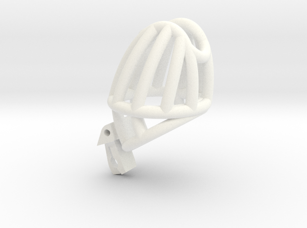 The Cherry Keeper Cage - Standard in White Processed Versatile Plastic