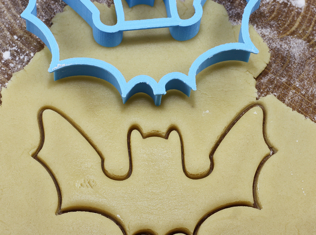 Bat cookie cutter for professional in White Natural Versatile Plastic