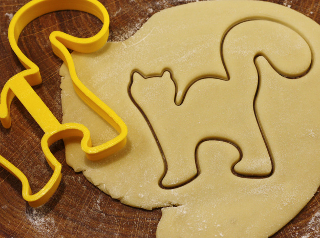 Cat cookie cutter for professional in White Natural Versatile Plastic