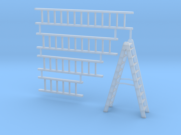 Ladder Collection in Smooth Fine Detail Plastic: 1:64 - S