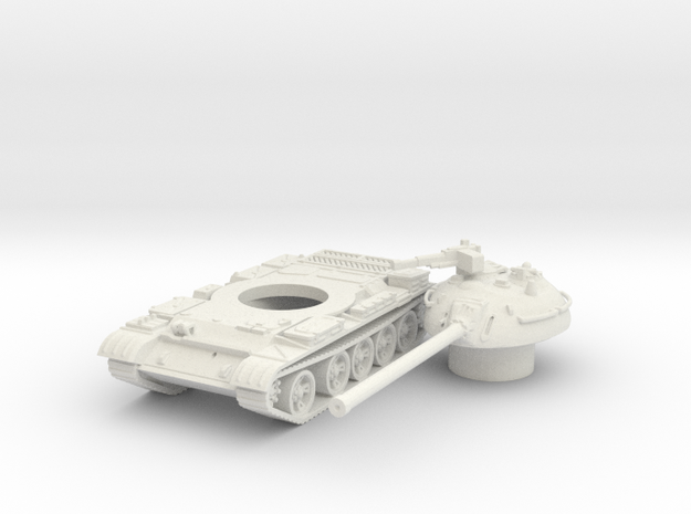 T54 (hollow) scale 1/87 in White Natural Versatile Plastic