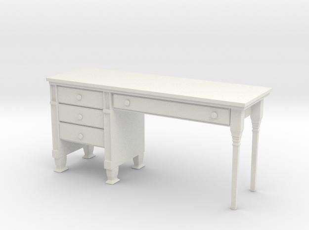 Desk 1 in White Natural Versatile Plastic