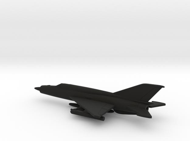 MiG-21bis (w/o landing gears) in Black Natural Versatile Plastic: 1:200