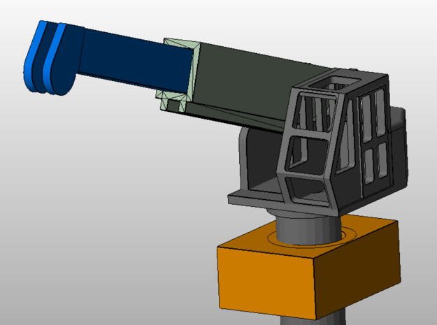 10-ton crane with socket (1:200)