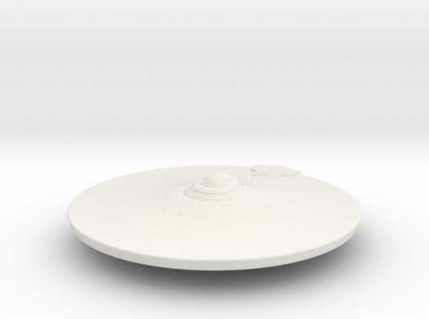 2500 saucer section refit1 in White Natural Versatile Plastic