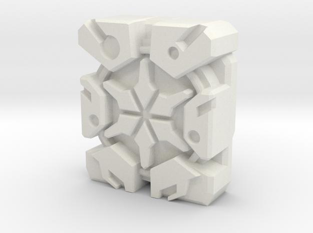 "13th Prime ""Blockhead"" Matrix Plate in White Natural Versatile Plastic"
