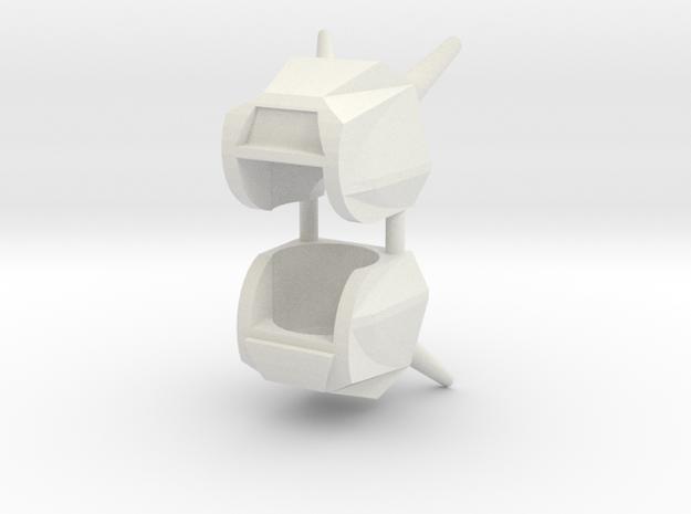 Robohelmet: Junkers (2 helmets) in White Natural Versatile Plastic