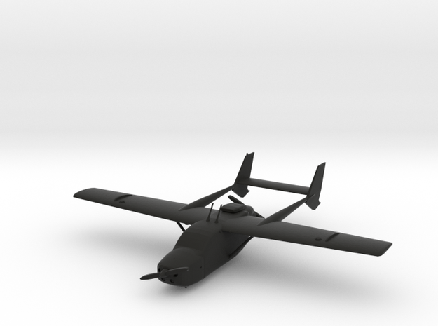 Cessna 337 Skymaster in Black Natural Versatile Plastic