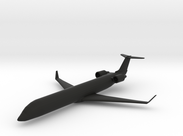 Bombardier CRJ-700 in Black Natural Versatile Plastic