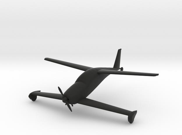 Rutan Quickie Q200 in Black Natural Versatile Plastic