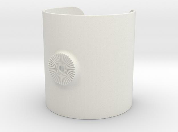 Armclamp_Elastic_90mm in White Natural Versatile Plastic