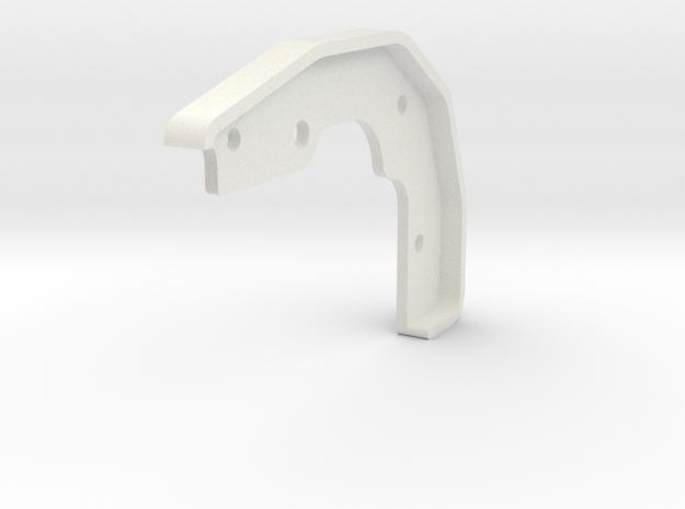 Tamiya Blazing Blazer Front Left Bumper Mount in White Natural Versatile Plastic