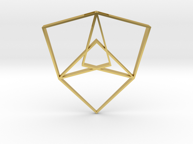 Shield of Light in Polished Brass