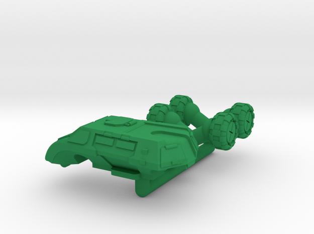 Legionnaire Light Wheeled Armor - 6mm in Green Processed Versatile Plastic