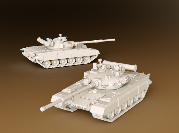 MBT T80b Scale: 1:100 in Smooth Fine Detail Plastic