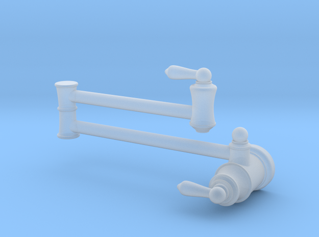 Pot Filler Traditional - Stationary in Smooth Fine Detail Plastic