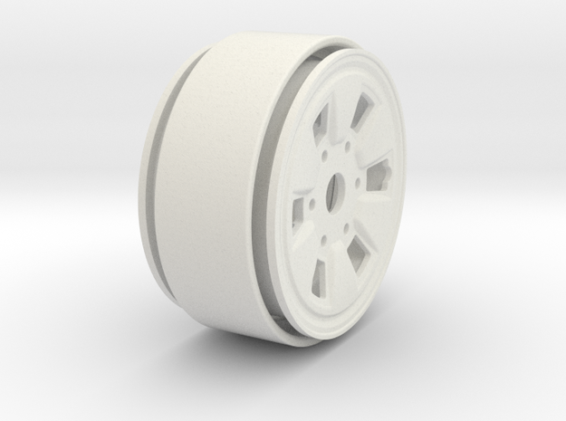 "Toyota IFS Beadlock Wheel 1.61"" in White Natural Versatile Plastic"