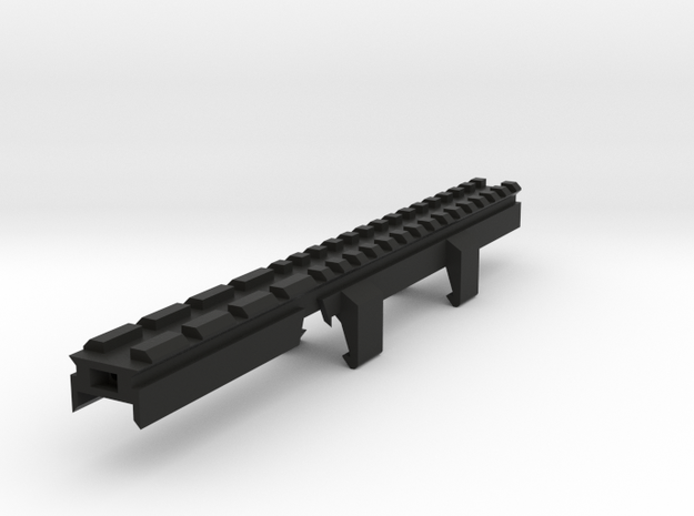 MP5K Full Length Picatinny Rail in Black Natural Versatile Plastic
