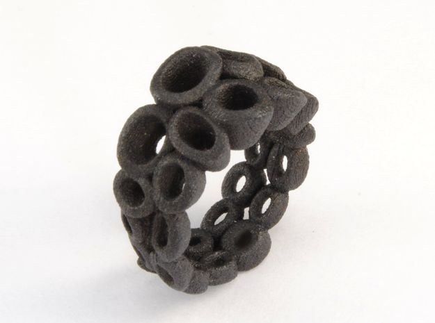 Neitiry Organic  Ring (From $13) in Matte Black Steel: 6.5 / 52.75