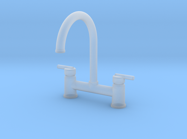 Contemp Bridge Faucet  in Smooth Fine Detail Plastic