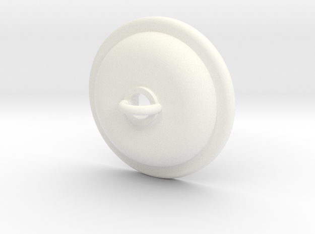 Ceiling Plate/Hook For Light - Trad in White Processed Versatile Plastic