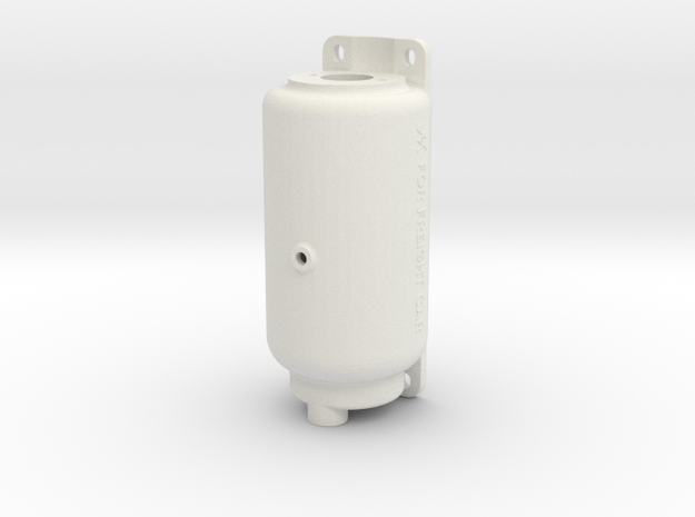 "2.5"" Scale KD 6""x8"" Reservoir in White Natural Versatile Plastic"