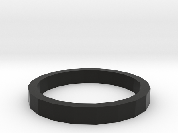 MEDIUM BOLD RING in Black Natural Versatile Plastic: 5 / 49