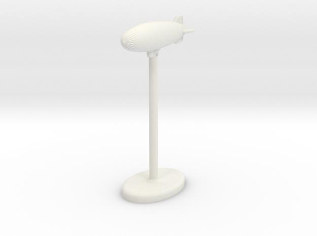 K Class Blimp in White Natural Versatile Plastic