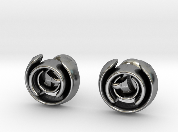 Love Song Cufflinks in Antique Silver