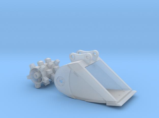 1:50 Felco Roller Bucket for Komatsu PC138 in Smoothest Fine Detail Plastic